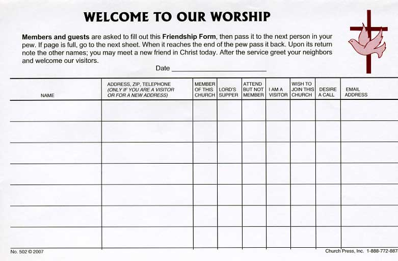 Burgundy vinyl holder attendance pads church press inc click here for enlarged sample page thecheapjerseys Images